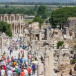 Curetes street and Celsus library, Ephesus, Turkey — Stockfoto