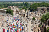 Curetes street and Celsus library, Ephesus, Turkey — Stock Photo
