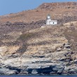Spathi lighthouse on a steep hillside, Serifos island, Cyclades, Greece — Stock Photo