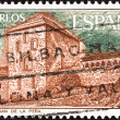SPAIN - CIRCA 1975: A stamp printed in Spain shows San Juan de la Pena Monastery, circa 1975. — Stock Photo
