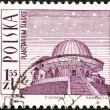 POLAND - CIRCA 1966: A stamp printed in Poland shows Silesian Planetarium, circa 1966. — Stock Photo
