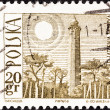 POLAND - CIRCA 1966: A stamp printed in Poland shows Hel Lighthouse, circa 1966.  — Stock Photo