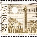 POLAND - CIRCA 1966: A stamp printed in Poland shows Hel Lighthouse, circa 1966. — Stock Photo #30132493