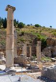 Remains of the basilca stoa, Ephesus, Turkey — Stock Photo