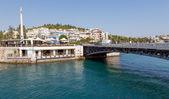 The old bridge of Khalkis, Euboea, Greece — Stock Photo