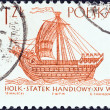 "Stock Photo: POLAND - CIRC1964: stamp printed in Poland from ""Sailing Ships (2nd series)"" issue shows Hulk (16th century), circ1964."