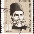 "TURKEY - CIRC1964: stamp printed in Turkey from ""Cultural Celebrities"" issue shows Ahmet Muhtar Pash(commander, 125th birth anniversary), circ1964. — Stock Photo #31273459"