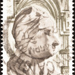 Stock Photo: IRELAND - CIRC1967: stamp printed in Ireland issued for 300th birth anniversary of JonathSwift shows JonathSwift (1667-1745), circ1967.