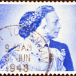 UNITED KINGDOM - CIRCA 1948: A stamp printed in United Kingdom issued for the Royal Silver Wedding shows King George VI and Queen Elizabeth, circa 1948. — Stock Photo