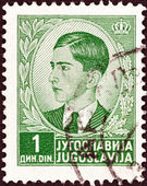 YUGOSLAVIA - CIRCA 1939: A stamp printed in Yugoslavia shows King Peter II, circa 1939. — Foto Stock