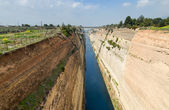 Corinth canal, Peloponnese, Greece — Stock Photo