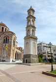 The clock tower of St. Nicholas cathedral, Volos, Greece — Stock Photo