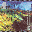 "Stock Photo: UNITED KINGDOM - CIRC1999: stamp printed in United Kingdom from ""Millennium Series"" issue shows Farmers' Tale, Upland Landscape (Strip Farming), circ1999."
