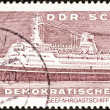 """GERMAN DEMOCRATIC REPUBLIC - CIRCA 1971: A stamp printed in Germany from the """"East German Shipbuilding Industry"""" issue shows liner Ivan Franko, circa 1971. — Stock Photo"""