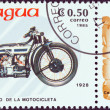 "Stock Photo: NICARAGU- CIRC1985: stamp printed in Nicaragufrom ""Centenary of Motorcycle"" issue shows Douglas, 1928, circ1985."