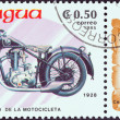 "Stock Photo: NICARAGU- CIRC1985: stamp printed in Nicaragufrom ""Centenary of Motorcycle"" issue shows FN M67C, 1928, circ1985."