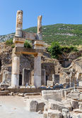 Ruins of the Domitian Square, Ephesus, Turkey — Stock Photo