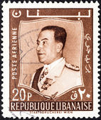 LEBANON - CIRCA 1960: A stamp printed in Lebanon shows President Fuad Chehab, circa 1960. — Stock Photo
