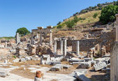 The Temples of Dea Roma and Divus Julius Caesar (Temenos), Ephesus, Turkey — Stock Photo