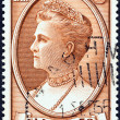 GREECE - CIRCA 1957: A stamp printed in Greece shows Queen Olga, circa 1957. — Stock Photo