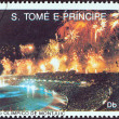 SAO TOME AND PRINCIPE - CIRC1992: stamp printed in Sao Tome and Principe shows Opening ceremony, summer Olympic games, Barcelona, circ1992. — Stock Photo #33988555