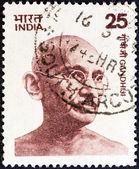 INDIA - CIRCA 1976: A stamp printed in India shows Mahatma Gandhi, circa 1976. — Stock Photo