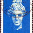 Stock Photo: CYPRUS - CIRCA 1962: A stamp printed in Cyprus shows head of goddess Aphrodite, circa 1962.