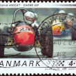 DENMARK - CIRCA 2006: A stamp printed in Denmark from the Race cars issue shows 1958 Alfa Dana Midget, Swebe - JAP, circa 2006. — Stock Photo