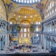 Hagia Sophia interior, Istanbul, Turkey — Stock Photo