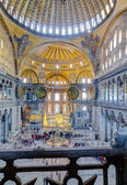 Hagia Sophia interior, Istanbul, Turkey — Stock Photo