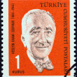 "TURKEY - CIRCA 1964: A stamp printed in Turkey from the ""Cultural Celebrities"" issue shows Huseyin Rahmi Gurpinar (writer, birth centenary), circa 1964. — Stock Photo"