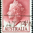AUSTRALIA - CIRCA 1955: A stamp printed in Australia shows Queen Elizabeth II, circa 1955.  — Stock Photo