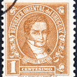 """URUGUAY - CIRCA 1945: A stamp printed in Uruguay from the """" Personalities """" issue shows Silvestre Blanco, 1783-1840, circa 1945. — Stock Photo"""