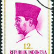 INDONESIA - CIRCA 1964: A stamp printed in Indonesia shows president Sukarno, circa 1964.  — Stock Photo