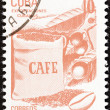 "CUBA - CIRCA 1982: A stamp printed in Cuba from the ""Exports"" issue shows coffee, circa 1982. — Stock Photo"