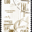 "CUBA - CIRCA 1982: A stamp printed in Cuba from the ""Exports"" issue shows cement, circa 1982. — Stock Photo"