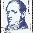 BULGARIA - CIRCA 1989: A stamp printed in Bulgaria issued for the birth bicentenary of Vasil Aprilov shows educator Vasil Aprilov, circa 1989. — Stock Photo