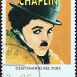 "CUBA - CIRCA 1995: A stamp printed in Cuba from the ""Centenary of Motion Pictures. Designs showing film stars"" issue shows Charlie Chaplin, circa 1995. — Stock Photo"
