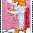 ICELAND - CIRCA 1987: A stamp printed in Iceland shows dental protection, circa 1987.  — Stock Photo