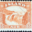 ICELAND - CIRC1931: stamp printed in Iceland shows Gullfoss Falls, circ1931. — Stock Photo #35896045