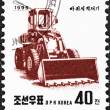 "NORTH KORE- CIRC1995: stamp printed in North Korefrom ""Machines "" issue shows Earth mover, circ1995. — Stock Photo #35896047"