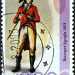 "ICELAND - CIRC2003: stamp printed in Iceland from ""Icelandic Police Force bicentenary"" issue shows Policeman, 1803, circ2003. — Stock Photo #35896053"