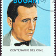 "CUBA - CIRCA 1995: A stamp printed in Cuba from the ""Centenary of Motion Pictures. Designs showing film stars"" issue shows Humphrey Bogart, circa 1995. — Stock Photo"