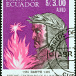 ECUADOR - CIRCA 1966: A stamp printed in Ecuador shows Dante, 700th birth cent., circa 1966.  — Stock Photo