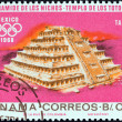 "PANAMA - CIRCA 1967: A stamp printed in Panama from the ""1968 Summer Olympics, Mexico City"" issue shows Indian ruins at Tajin, circa 1967. — Stock Photo"