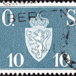 NORWAY - CIRCA 1951: A stamp printed in Norway shows Norway Coat of Arms, circa 1951. — Stock Photo