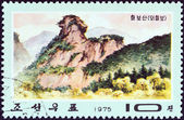 "NORTH KOREA - CIRCA 1975: A stamp printed in North Korea from the ""Mt. Chilbo Views"" issue shows Mae Rock, circa 1975. — Photo"
