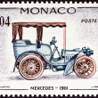 MONACO - CIRCA 1961: A stamp printed in Monaco from the Veteran Cars  issue shows Mercedes, 1901, circa 1961.  — Stock Photo