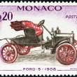 MONACO - CIRCA 1961: A stamp printed in Monaco from the Veteran Cars  issue shows Ford-S, 1908, circa 1961.  — Stock Photo