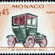 MONACO - CIRCA 1961: A stamp printed in Monaco from the Veteran Cars  issue shows De Dion-Bouton, 1900, circa 1961.  — Stock Photo